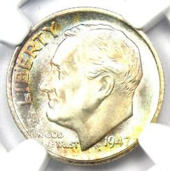 1947-s Roosevelt Dime 10c - Certified Ngc Ms68 Ft - Rare Ms68 Fb - 1500 Value