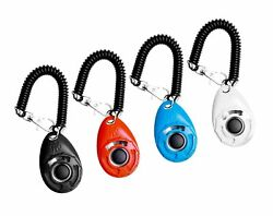 Ecocity 4-pack Dog Training Clicker With Wrist Strap Black+red+blue+white