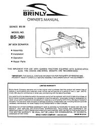 38in Sleeve Hitch Box Scraper Bs-381 Operator Instruction Manual Brinly