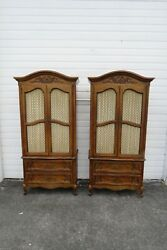 French Pair Of Tall Armoires Wardrobes Cabinets By Basic Witz 1997