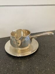 Reed And Barton Sterling Silver X655 Sauce Creamer Boat W/ Underplate X5 1956 5 Oz