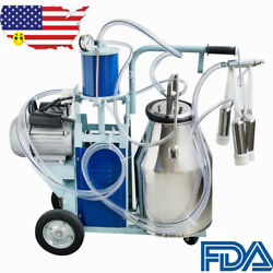 Fda Electric Milking Machine Milker For Farm Cows Bucket 110v 25l 304 Stainless