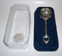 Pedro Duran Baby Rattle Sterling Silver 925 With Box Vintage