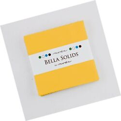 Bella Solids Yellow Moda Charm Pack By Moda Fabrics 42-5 Quilt Squares