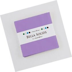 Hyacinth Moda Bella Solids Charm Pack By Moda Fabrics 42-5 Quilt Squares