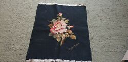 Antique French Handmade Aubusson Tapestry Vintage Wall Hanging Hand Made