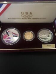 1992 Us Olympic Coins Three Coin Proof Set