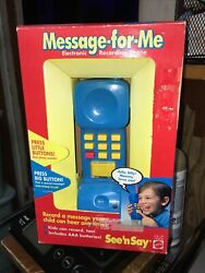 Mattel See N Say Message For Me New Vintage Record 1994 Electronic Phone