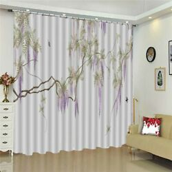 White Enlarged Neat 3d Curtain Blockout Photo Printing Curtains Drape Fabric