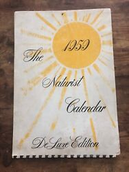 Vintage 1959 Deluxe Edition Naturist Calendar Pin-up Girls Gay Interest