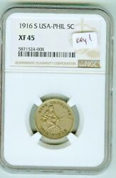 Key Date Ngc Xf45 1916 S Philippines 5 Centavos