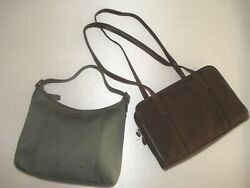 Coach Vintage Lot of 2 Styles 6214 6219 Neoprene Small Leather Bags $35.00