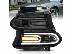 Headlight Set Anzo 5mmc69 For Dodge Charger 2018 2016 2015 2017