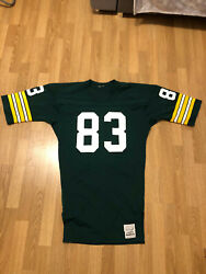 Vintage John Jefferson Green Bay Packers Game Worn Issued Sand Knit Jersey Nfl