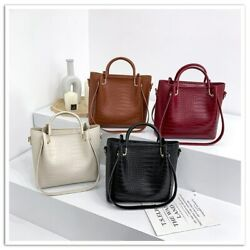 PU Leather Bucket Bags for Women Casual Shoulder Messenger Bag Lady Handbags $36.99