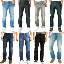Nudie Mens Regular Slim Straight Fit Jeans - Slim Jim - New With Small Defects