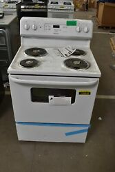 Hotpoint Rbs360dmww 30 White Freestanding Electric Range Nob 108848