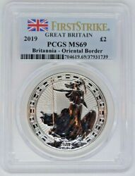 Great Britain 2019 Andpound2 Pounds Oriental Border Pcgs Ms69 First Strike Top Pop Rare