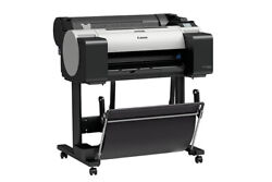 New Canon Imageprograf Tm-200 24 Wide/large Format 5 Color Printer With Stand