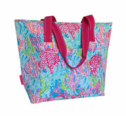 Lilly Pulitzer Insulated Cooler Beach Bag Large Zip Tote Trippin and Sippin $29.99