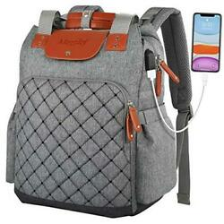 Laptop Backpack for Women Men Work Travel School College Backpack with Grey $52.85
