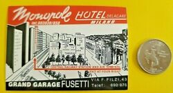 Hotel Delagare Miland With Map Central Railway Cool Multicolor Sticker Decal