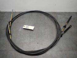 Used Teleflex Evinrude Johnson Outboard 1979 And Up 479 Control Cable 13 Ft Pair