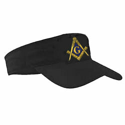 Masonic Visor On Black 20+ Embroidered Logos To Choose From For Most Orders