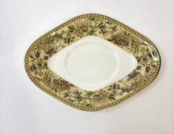 Wedgwood Floral Tapestry 1997 Gravy Boat Stand Only New