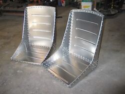 Beautiful Pair Wwii Style Aircraft Bomber Seats Over 150 Solid Rivets Vintage
