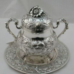 Sterling Honey Dish With Tray 1082 Grams