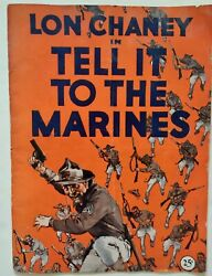 1926 Tell It To The Marines Pressbook W/premiere Theater Item Lon Chaney