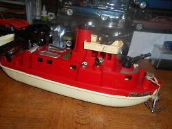 Antiquevintage Ideal Toy Co. Mechanical Fire Pumping Boat - Awesome Condition