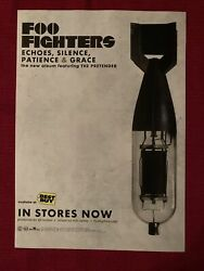 Foo Fighters Echoes, Silence, Patience And Grace Album 2007 Rca Ad/poster Promo