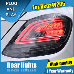 For Benz C-class W205 Dark/red Led Rear Lamps Assembly Led Tail Lights 2014-2020