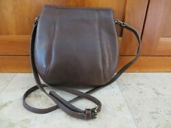Vintage COACH Bag Small Framed Pouch #9990 Brown Leather Crossbody Made in USA $59.95