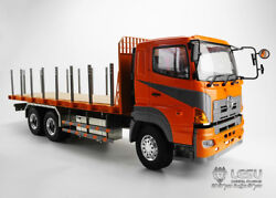 Lesu Hino Rc 64 Flatbed Lorry Trailer Car Diy 1/14 Metal Chassis Tractor Truck