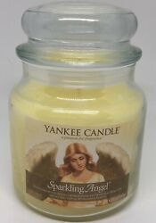 Yankee Candle Sparkling Angel Jar Candle 14.5 oz Never Lit Rare HTF Scent