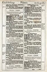 1611 King James Bible Leaf Ps 126 Sow In Tears Bearing Precious Seed 1st Ed 'he'