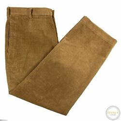 Brooks Brothers Hudson Brown Ribbed Velvet Unlined Flat Front Corduroy Pants 38w