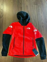 North Face Summit Series L2 Power Grid Lightweight Hoodie Jacket Red NEW Women S $110.00