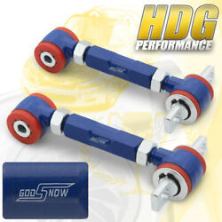 For 88-00 For Civic Del Sol Integra Red Bushing Rear Camber Kit Control Arm Blue
