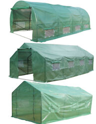 Outdoor Greenhouse Walk In Hot Large Green House Heavy Duty Plant Gardening Us
