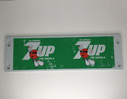 """Vintage 7up The Uncola Metal Panel Sign 23"""""""