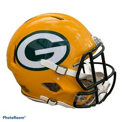 Green Bay Packers Nfl Riddell Eclipse Full Size Authentic Football Helmet.