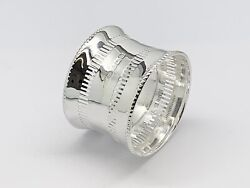 Solid Sterling Silver Pierced Napkin Ring-traditional Christening Gift