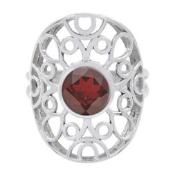 Garnet 925 Sterling Silver Ring Natural Jewelry For Easter Gift Us