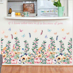 Removable Flowers Compact Group Wall Sticker Mural Wall Decal Home Room Decor SY