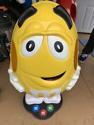 Yellow Mandm's Candy Character Collectible Large 41 Store Display Free Shipping