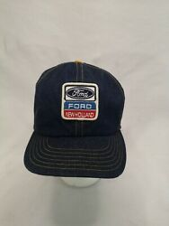 Vintage Ford New Holland Tractor Patch Denim Snapback Trucker Hat - Victory Caps